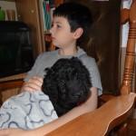 Barbet: barbichon rouge. Il va finir par s'endormir avant moi!
